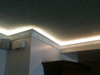 crown molding lighting strip lights under spa roadway with street